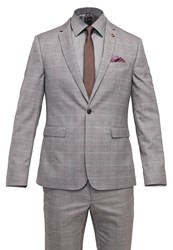 Burton Menswear London Suit Grey