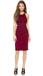 Shakuhachi Cutaway Dress Ox Blood
