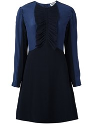 Sonia Rykiel By Draped Detailing Fitted Dress Black