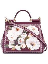 Dolce And Gabbana 'Sicily' Tote Pink Purple