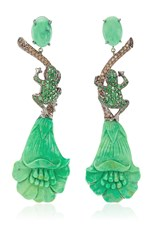 Lydia Courteille One Of A Kind Amazonia Earrings Green
