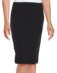 Nipon Boutique Crepe Pencil Skirt Black