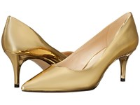 Nine West Margot Gold Synthetic Synthetic High Heels