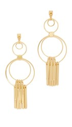 Ettika Shaking And Stirred Earrings Gold