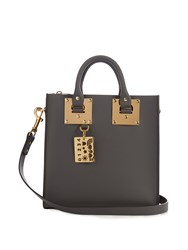 Sophie Hulme Albion Square Leather Tote Dark Grey