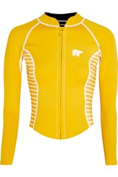 Perfect Moment Printed Neoprene Rash Guard Yellow