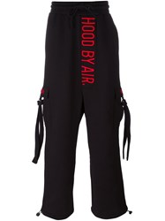 Hood By Air Drop Crotch Cargo Sweatpants Black