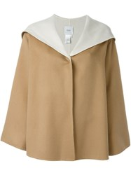 Agnona Hooded Cape Brown