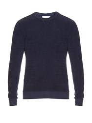 Orlebar Brown Pierce French Terry Towelling Sweatshirt Navy