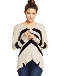 American Rag V Neck Chevron Sweater Only At Macy's Cinder Combo
