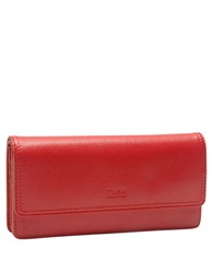 Tusk Madison Leather Gusseted Clutch Coral