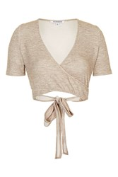 Glamorous Wrap Crop Top By Beige