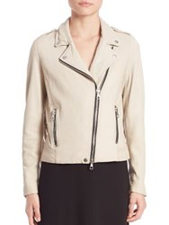 Set Fringed Biker Jacket Ivory Pearl