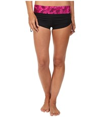 Tyr Cadet Active Mini Boyshorts Black Pink Women's Swimwear