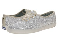 Kate Spade Glitter White Glitter Women's Lace Up Casual Shoes