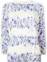 Giambattista Valli Floral Print Sweater White