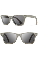 Shwood 'Canby' 54Mm Polarized Stone Sunglasses White Slate Grey