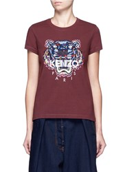 Kenzo 'Tiger' Embroidered Cotton T Shirt