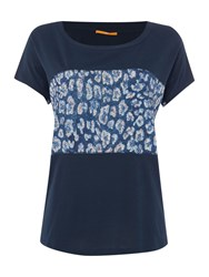 Hugo Boss Shor Sleeve Contrast Panel Tee Blue Multi