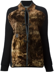 Gianfranco Ferre Vintage Panelled Cardigan Black
