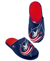 Forever Collectibles Men's Columbus Blue Jackets Big Logo Slippers