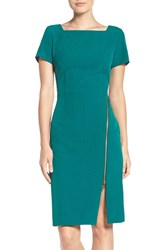 Julia Jordan Women's Side Zip Sheath Dress Emerald