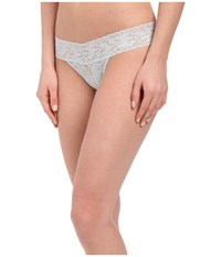 Hanky Panky Signature Lace Low Rise Thong Pearl Grey Women's Underwear Gray