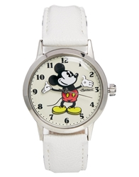 Disney White Mickey Mouse Ingersoll Classic Watch