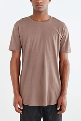 Feathers Twisted Neck Tee Brown