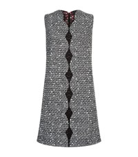 Giambattista Valli Lace Trim Tweed Dress Female White