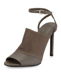 Vince Grace Leather Ankle Strap Sandal Driftwood Brown Women's
