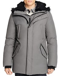 Mackage Edward Fur Trim Hooded Jacket Slate