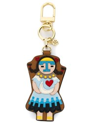 Tory Burch 'Kachina Doll' Keyring Brown