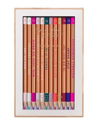 Ted Baker Porcelain Rose Coloring Pencil Set Of 12 White