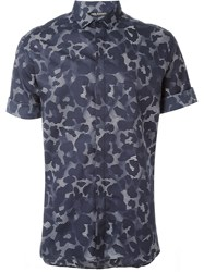 Neil Barrett Abstract Print Shirt Blue