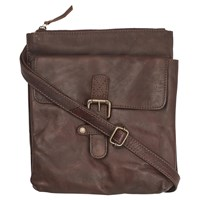 Fat Face Poppy Leather Across Body Bag Chocolate