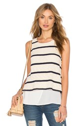 Splendid Tucson Striped Loose Knit Tank Ivory