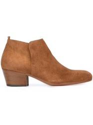Henderson Baracco Low Ankle Boots Brown