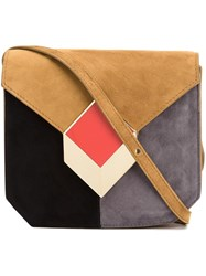 Pierre Hardy Colour Block Crossbody Bag Brown