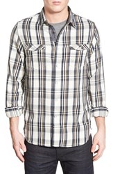 Men's Howe 'Rag And Stone' Trim Fit Long Sleeve Plaid Twill Woven Shirt Dark Slate