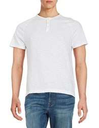Kenneth Cole Cotton Henley Tee White