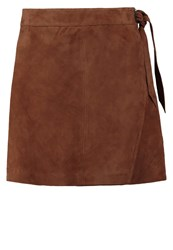 Second Female Leather Skirt Nut Brown Camel