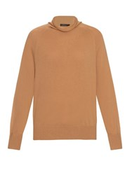 The Row Andel Wool And Cashmere Blend Sweater Camel