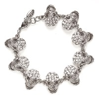 Shay Accessories Skull Chain Bracelet Silver