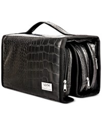 Nyx Black Croc Embossed Deluxe Makeup Bag No Color