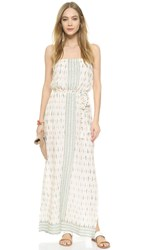 Joie Sedco Ikat Maxi Dress Porcelain With Haze Blue
