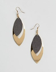 Paper Dolls Glitter Stone Earrings Gold