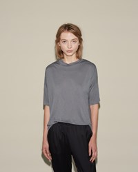 Alexander Wang Drop Shoulder Tee Steel