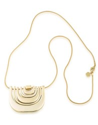 Trina Turk 14K Goldplated Brass Multi Row Pendant Necklace