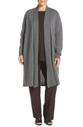 Eileen Fisher Plus Size Women's Washable Wool Crepe Kimono Duster